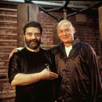 Gordon Liu mit Sifu Alan Baklayan