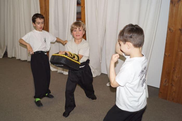 Pratzentraining mit den Kinder