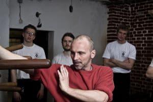 Traing in der Kung Fu Schule mit Uwe