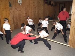 Kung Fu Training mit dem Stock