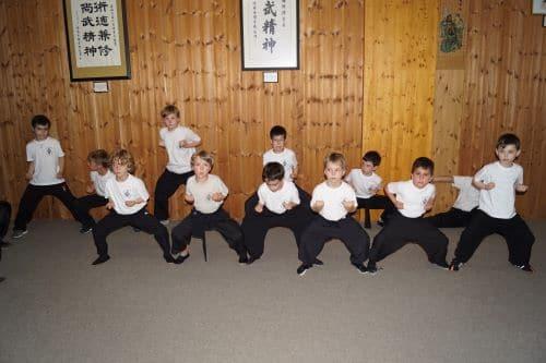 Horse-Stance im Kinder Kung Fu