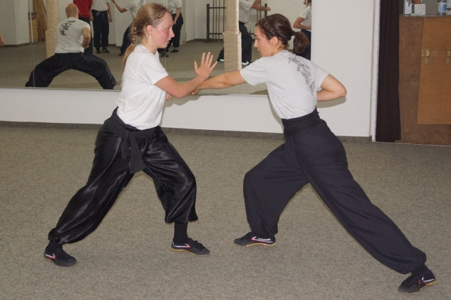 Frauen Kung Fu Zweikampf
