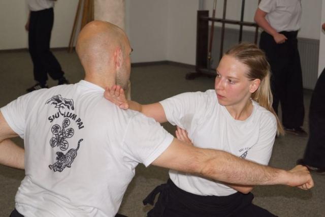 Frauen Kung Fu Training