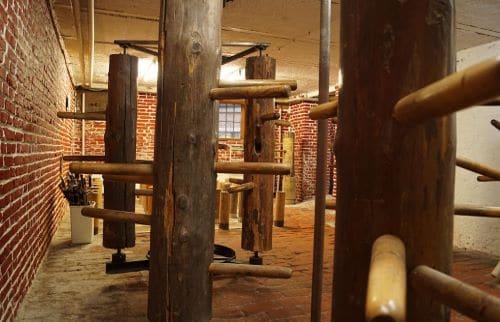 Holzpuppenraum der Münchner Kung Fu Schule