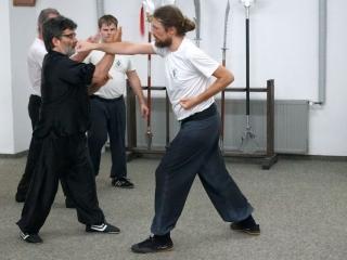 ortgeschrittenen Kung Fu Training mit Sifu Alan Baklayan
